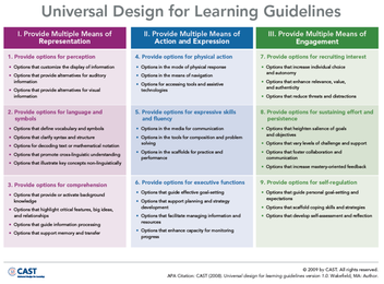 UDL Tools All Grades The UDL Project - Universal design lesson plan template
